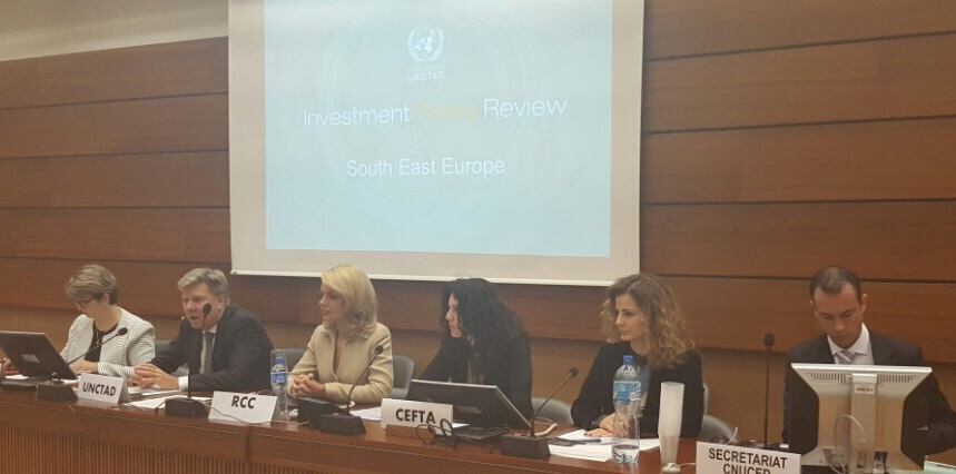 Reforming and harmonizing investment policies in South East Europe in focus of discussion on UNCTAD's Investment Policy Review of South East Europe on a meeting held in Geneva, Switzerland, on 17-18 November 2016 (Photo: RCC/Nedima Hadziibrisevic)