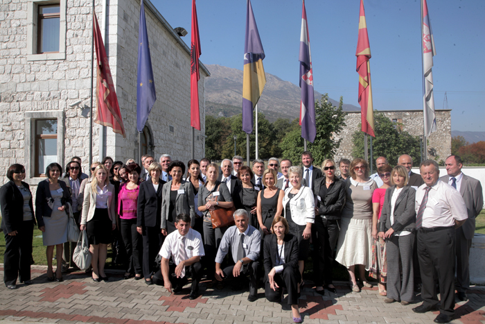 Participants of the first regional training of education inspectors held in Danilovgrad, Montenegro, on 5-6 October 2011. (Photo: Courtesy of Regional School for Public Administration)