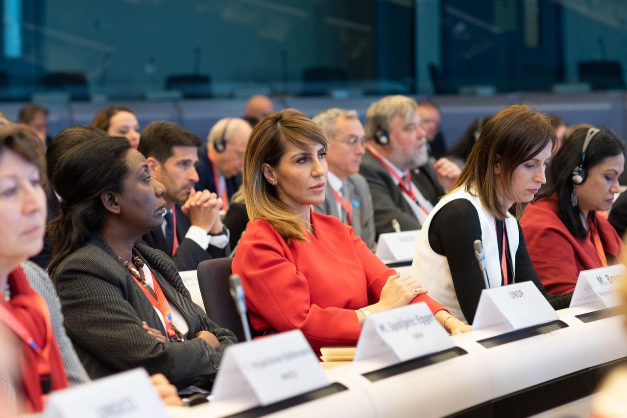 "RCC Secretary General Majlinda Bregu attended International Donors' Conference ""Together for Albania"" in Brussels on 17 February 2020 (Photo: RCC/Jerome Hubert)"