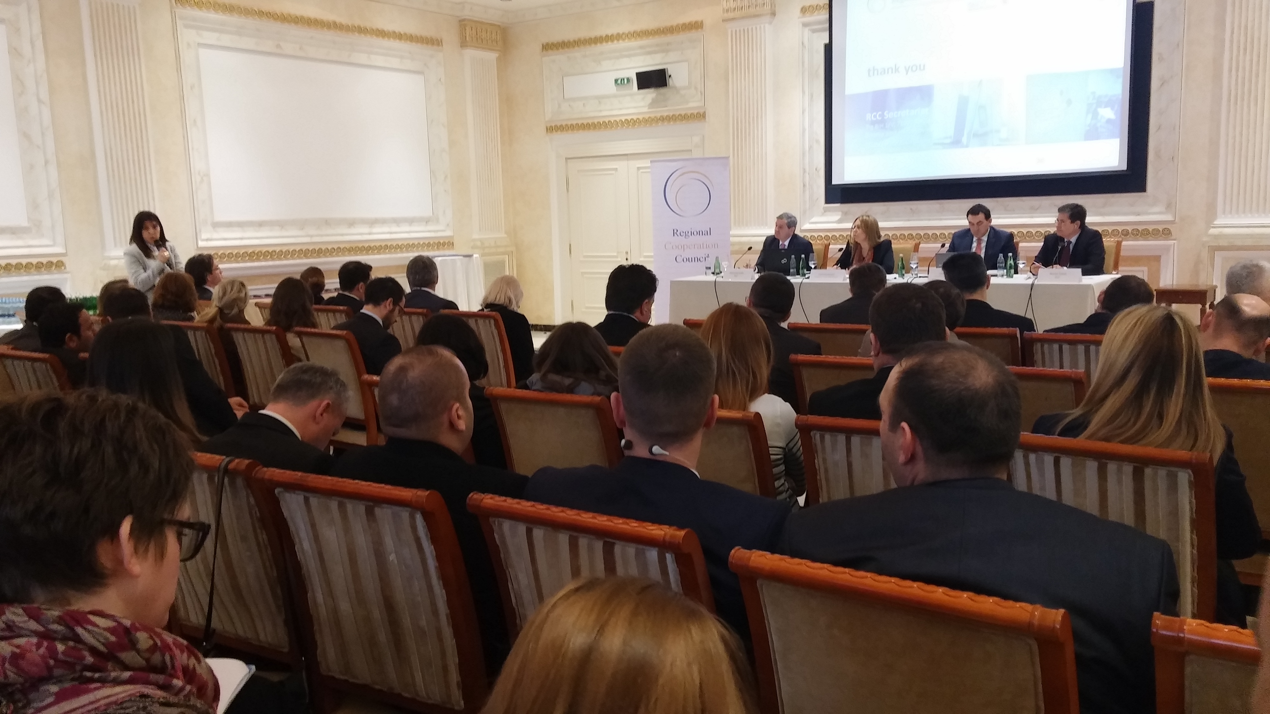 The implementation of the RCC's SEE 2020 strategy, was the focus of the conference in Pristina, organized by the RCC Secretariat in cooperation with the Ministry of Trade and Industry, and the OECD, on 3 February 2015. (Photo RCC/Selma Ahatovic-Lihic)