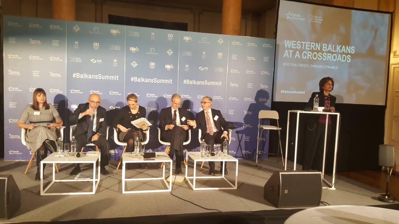 18th edition of policy summit on the Western Balkans under the title: Western Balkans at a Crossroads: New Challenges, Changing Dynamics, organised by the Friends of Europe, with the support of the RCC, was held on 5 December in Brussels. (Photo: Friends of Europe)