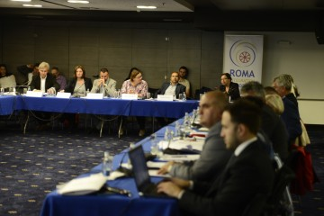 Participants of the third National Platform on Roma Integration in Bosnia and Herzegovina, organized by RCC's Roma Integration 2020 (RI2020) in Sarajevo on 28 September 2018. (Photo: RCC/Damir Kadric)