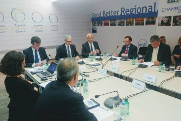 Meeting of the RCC Board, held on 18 October 2017 in Sarajevo. (Photo: RCC/Alma Arslanagic-Pozder)