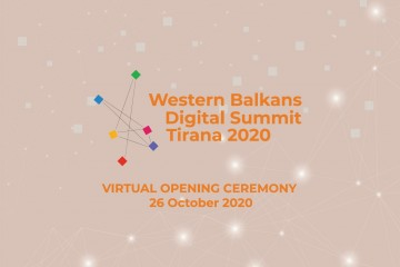 Tirana to host the 3rd Western Balkans Digital Summit, taking place 26 October - 2 November 2020