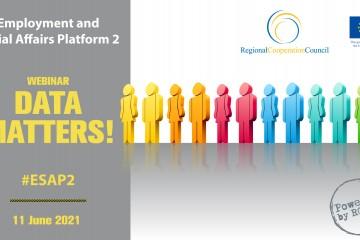 """ESAP 2: Webinar """"Data Matters!"""" (Design: Samir Dedic)"""