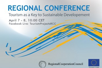 Regional Conference - Tourism as a Key to Sustainable Development, organized by the RCC to take place 7-8 April 2021
