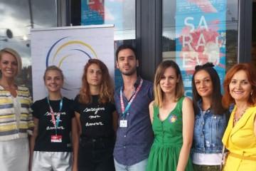 RCC and authors of student movies at the 23rd Sarajevo Film Festival, on 18 August 2017 in Sarajevo, BiH. (Photo: Alma Arslanagic-Pozder)