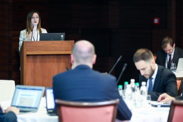 Maja Handziska Trendafilova, Head RCC's Programme Department, opening the regional workshop on undeclared work in the Western Balkans, in Sarajevo on 15 October 2019 (Photo: RCC/Armin Durgut)