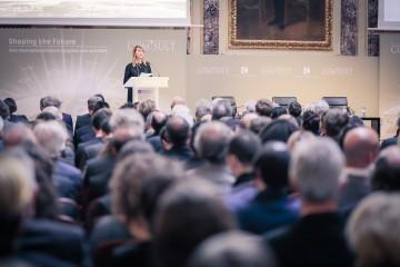 "RCC Secretary General Majlinda Bregu speaking at the 16th Vienna Congress, titled ""Shaping the Future"" in Vienna on 29 January 2019 (Photo: RCC/Elmas Libohova)"