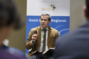 RCC Expert on Governance for Growth, Radu Cotici, at the premiere of the RCC funded documentary