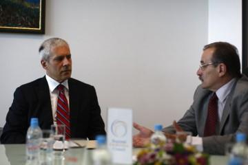 Serbian President Tadic (left) and RCC Secretary General Biscevic meet at the RCC premises in Sarajevo, Bosnia and Herzegovina, on 6 July 2011 (Photo: RCC/Dado Ruvic)
