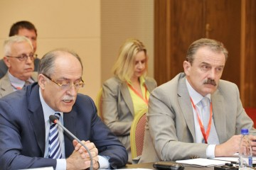 RCC Secretary General , Hido Biscevic (right), and Montenegrin Minister of Foreign Affairs and European Integration , Milan Rocen, at the opening of the third RCC Annual Meeting, on 28 June 2011, in Becici, Montenegro. (Photo: Courtesy of Montenegrin Government)
