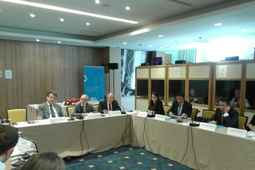 RCC Secretary General, Goran Svilanovic, at the conference dedicated to strengthening intercultural youth exchange programmes in the Western Balkans, held in Sarajevoon 10 June 2015. (photo: RCC/Nenad Sebek)