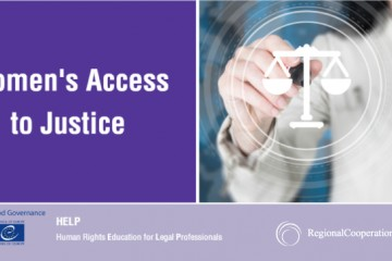 RCC co-organized the launch of the online course 'Access to justice for women' within the framework of the activities of SEE Judicial Training Institutes network (SEE JTI) on 9 June 2021