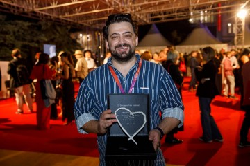 Alexandru Mironescu,young Romanian Director, wins Heart of Sarajevo for the Best Student Film with a movie Summer Planning, at the 27th Sarajevo Film Festival, Sarajevo, 19 August 2021. (Photo: Alma Arslanagic-Pozder)
