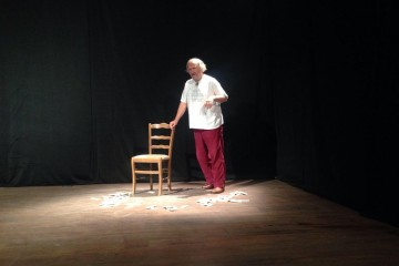 Supported by RCC, Qendra Multimedia arts and cultural centre in Pristina hosted theater-literary performance by BiH actor, writer and director, Zijah Sokolovic, on 1 December 2015. (Photo: RCC/Nenad Sebek).