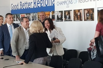 Genoveva Ruiz Calavera, Director for the Western Balkans at EC's DG NEAR visits RCC's Secretariat in Sarajevo, 2 July 2018 (Photo: RCC/Selma Ahatovic-Lihic)