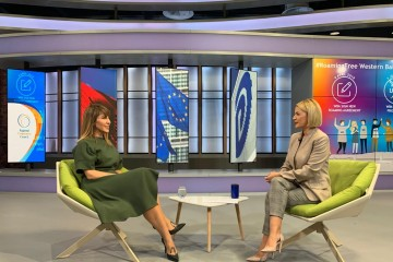 Secretary General of the Regional Cooperation Council Majlinda Bregu for Euronews Albania