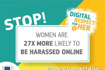 The #DigitalRespect4Her Campaign is a campaign launched by the European Commission to raise awareness about online violence against women and promote good practices to tackle this issue (Illustration: European Commission)