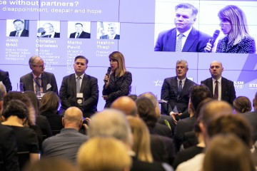 RCC Secretary General Majlinda Bregu took part in the Friends of Europe's Conference on the future of the Balkans, in Brussels on 3 December 2019 (Photo: RCC/Laure Geerts)