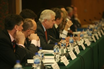 Participants of the Ministerial Conference on Combating Climate Change in Southeast Europe, Sarajevo, BiH, 14 November 2008 (Photo RCC/Dejan Vekic)