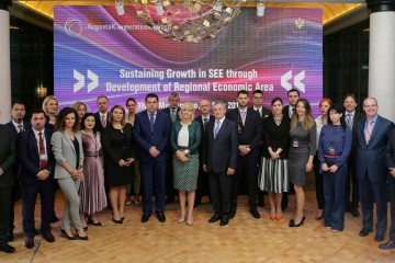 Participants of the SEEIC ministerial meeting held on 11 May 2018 in Tivat, Montenegro. (Photo: RCC/Radonja Srdanovic)