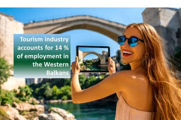 Tourism industry accounts for 14 percent of employment in the Western Balkans. On photo: Mostar, Bosnia and Herzegovina (Photo: Shutterstock)