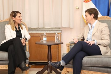 In a two-day visit to Serbia, Secretary General of the Regional Cooperation Council (RCC) Majlinda Bregu met with the Prime Minister of Serbia, Ana Brnabić and First Deputy Prime Minister and Minister of Foreign Affairs, Ivica Dačić, , among other Serbian officials. (Photo:  Courtesy of the Government of the Republic of Serbia)