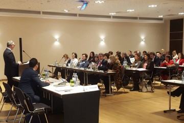 RCC Secretary General Goran Svilanovic opening regional workshop on monitoring and reporting, organised by RCC's Roma Integration 2020 (RI2020) Action Team in Vienna, 12-13 December 2016 (Photo: RCC/Alma Arslanagic Pozder)