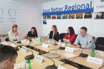 Joint Working Group on Mutual Recognition of Professional Qualifications (JWG on MRPQ) at themeeting held in the Regional Cooperation Council (RCC) headquarters in Sarajevo on 7 May 2018 (Photo: RCC/Alma Arslanagic Pozder)