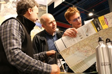 Western Balkans' tours operators promote regional adventure tourism offer at the Fiets en Wandelbeurs fair in Utrecht, Netherlands. 1-3 March 2019, Powered by RCC  (Photo: RCC/Nikola Gaon)