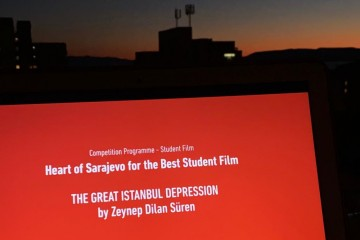 "Heart of Sarajevo for the Best Student Film 2020 goes to Zeynep Dilan Süren for ""The Great Istanbul Depression"" (Photo: RCC/Emina Basic)"
