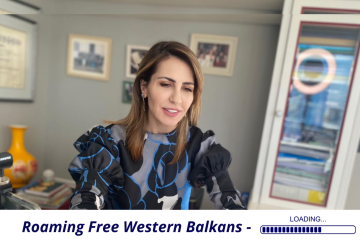 RCC Secretary General Majlinda Bregu at the Western Balkans Roaming Policy Working Group Meeting held on 23 February 2021 (Photo: RCC)