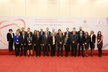 Participants of the SEEIC Ministerial Conference, held on 9 December 2015 in Budva, Montenegro. (Photo: RCC)