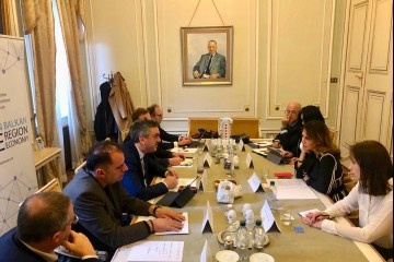 Majlinda Bregu, Secretary General of the RCC in the meeting with Chamber of Investment Forum of the Western Balkan Six in Trieste, 7 March 2019 (Photo: Courtesy of WB6 CIF)