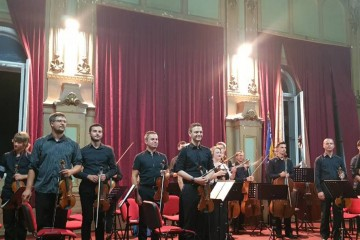 No Border Orchestra at concert in Sarajevo on 20 August 2018, within their Western Balkans tour, supported by RCC (Photo: RCC/Mirela Mahic)