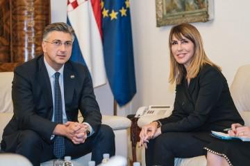 Secretary General of the RCC, Majlinda Bregu met with Croatian Prime Minister, Andrej Plenković in Zagreb, 19 November 2019 (Photo: RCC/Damir Zizic)