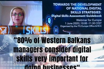 Tanja Miščević, Deputy Secretary General of the Regional Cooperation Council (RCC) at the webinar on Development of National Digital Skills Strategies, co-organized by RCC and International Telecommunication Union (ITU)