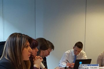 RCC's Expert on Smart Growth, Mimika Dobroshi presenting  work plan  of regional Working Group on Open Science to EU member states network on scientific information in Brussels, 10 November 2016 (Photo: RCC)