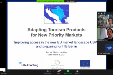 Adapting Tourism Products for New Priority Markets webinars organized by RCC Triple P project and Elite Travel Group