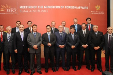 Participants of the meeting of SEECP Ministers of Foreign Affairs, held on 29 June 2011, in Becici, Montenegro. (Photo: Courstesy of Montenegrin Government)