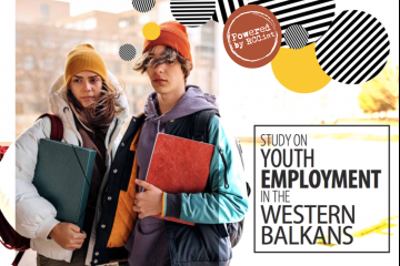 """RCC's ESAP Project presented Study on Youth Employment in the Western Balkans on an online Give Youth a Chance"""" conference held on 31 Mat 2021 (Design: RCC/Samir Dedic)"""