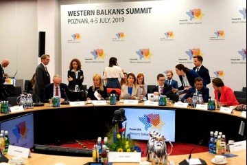 RCC Secretary General, Majlinda Bregu addressed Western Balkans' Economy Ministers at the Ministerial Panel on Regional Economic Area at the WB Summit in Poznan, Poland, 4 July 2019 (Photo: RCC/Erik Witsoe)