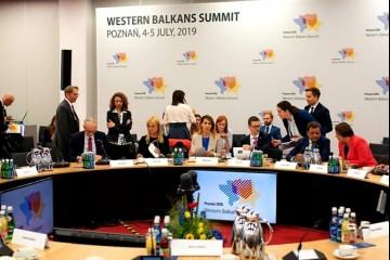 RCC Secretary General, Majlinda Bregu addressed Western Balkans' Economy Ministers at the Ministerial Panel on Regional Economic Area at the WB Summit in Poznan, Poland, 4 July 2019 (Photo: RCC/Erik Witsoe)