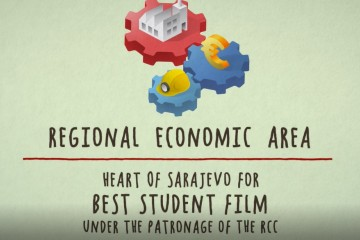 The Regional Cooperation Council (RCC) is the international partner of the Sarajevo Film Festival (SFF), as a patron of the 'Heart of Sarajevo' award for the Best Student Film. (Illustration: RCC)