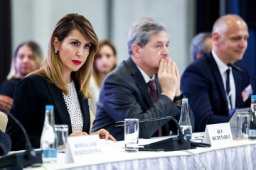 Majlinda Bregu opening the first RCC Annual Meeting in a capacity of organization's Secretary General, in Sarajevo on 8 July 2019 (Photo: RCC/Armin Durgut)