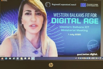 RCC Secretary General Majlinda Bregu hosting Western Balkans ICT Ministerial Meeting: 'Western Balkans fit for Digital Age' (Photo: RCC/Emina Basic)