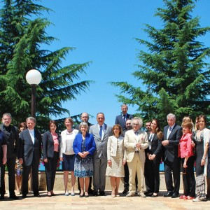 Ministers of Culture of Bosnia and Herzegovina, Croatia, Montenegro and Serbia met in Ohrid, on 28 June where they handed over a joint nominations dossier to the UNESCO Secretary General, Irina Bokova (Photo courtesy of Ministry of Culture of The Former Yugoslav Republic of Macedonia)