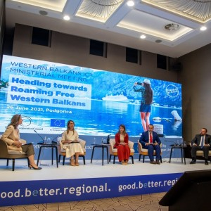 Meeting of Western Balkans' ICT Ministers in Podgorica, 25 June 2021 (Photo: RCC/Samir Lacevic)