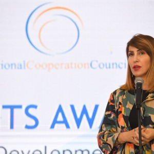 Secretary General of the Regional Cooperation Council Majlinda Bregu at the tourism grants award ceremony within the Tourism Development and Promotion Project, in Durres on 22 November 2019 (RCC/Armand Habazaj)